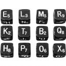 TH93620 Tim Holtz® Idea-ology™ Alpha Dice 12/Pkg Black